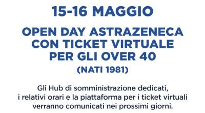 Vaccini Covid Lazio: nel weekend del 15 e 16 Maggio open day Astrazeneca per over 40